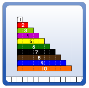 photo about Cuisenaire Rods Printable identify Relational Rods+
